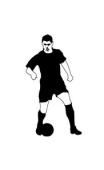 Sticker Joueur de Football