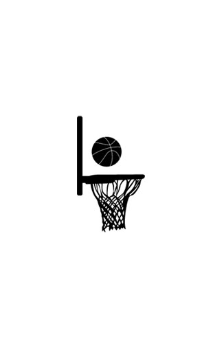 Sticker Panier de Basket