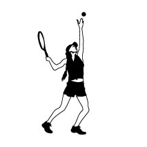 Sticker Joueuse Tennis