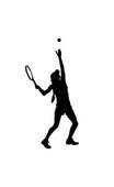 Sticker service tennis