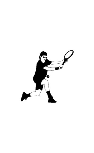 sticker Roger Tennis