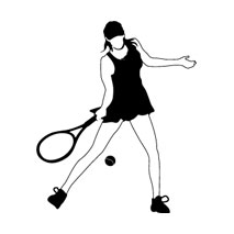 sticker tennis girl