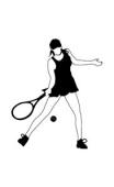 sticker tennis girl