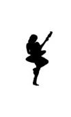 Sticker femme guitare