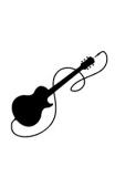 Sticker guitare électrique