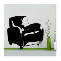 Sticker Fauteuil Club