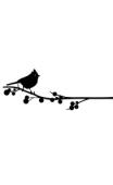 Sticker oiseau sur la branche