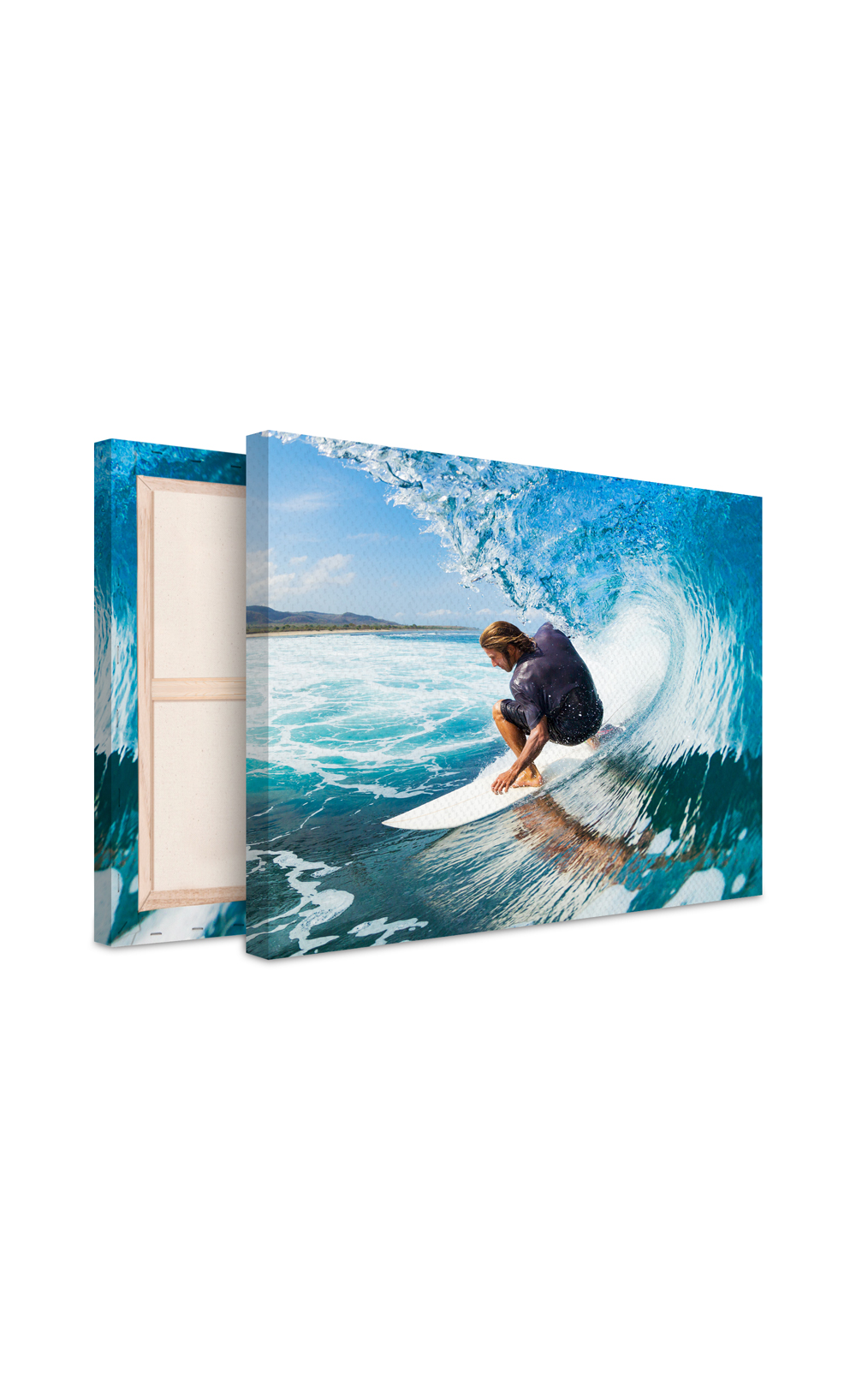 photo sur toile vague de surf et surfer. Black Bedroom Furniture Sets. Home Design Ideas