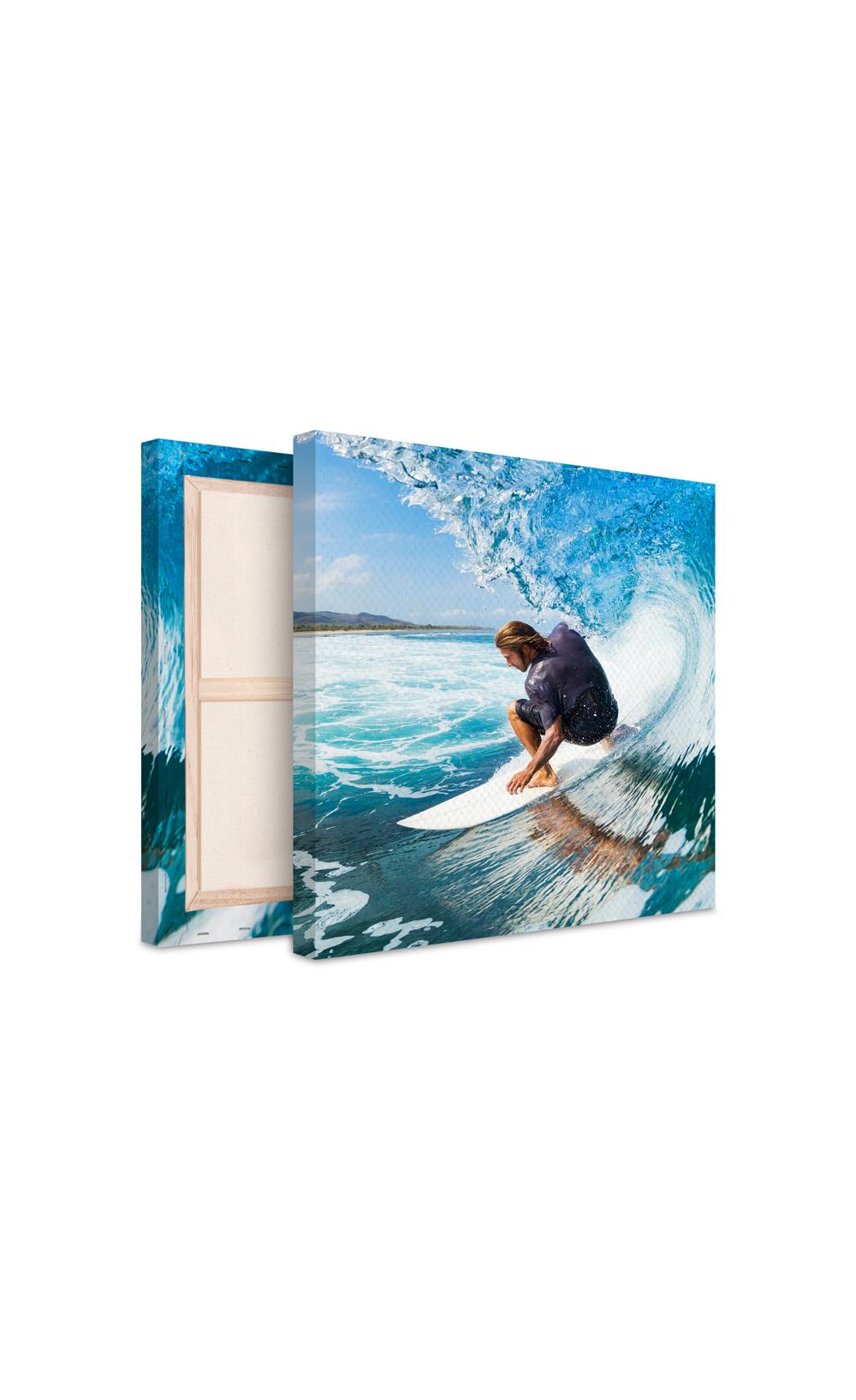 photo sur toile vague de surf et surfer. Black Bedroom Furniture Sets. Home Design Ideas