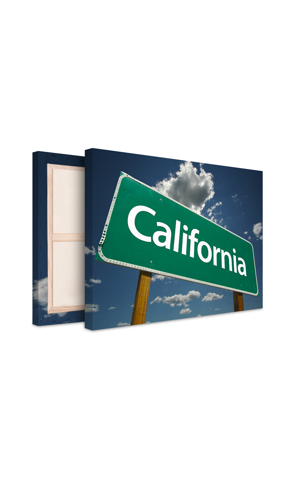 tableau photo sur toile california vinyz. Black Bedroom Furniture Sets. Home Design Ideas