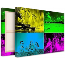 Tableau Pop Art Modern 4 photos paysage