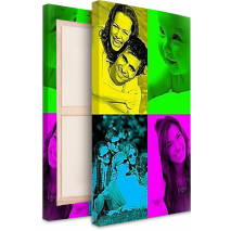 Tableau Pop Art Modern 4 photos portrait