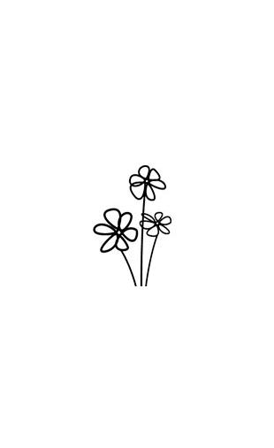 Sticker design fleur-4