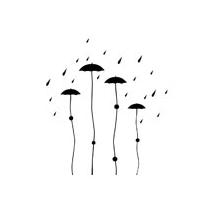 Sticker parapluie design