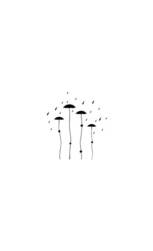 Sticker parapluie design