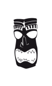 Sticker tiki polynésien4