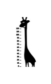 Sticker girafe toise