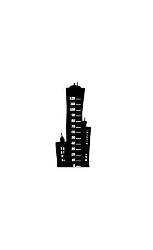 Sticker immeuble toise