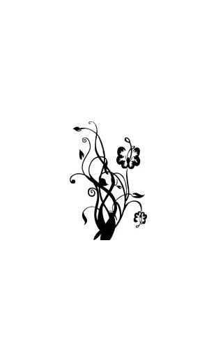 Sticker fleur forme2