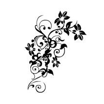 Stickers fleur forme3