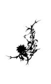 Sticker fleur forme4