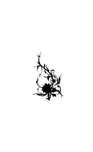 Sticker fleur forme5