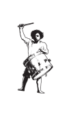 Sticker joueur tambour