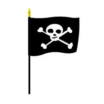 Sticker drapeau pirate 2
