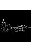 Sticker immeuble Seattle