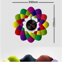 Sticker horloge arabesques multicolores