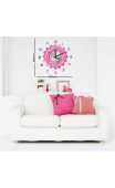 Sticker horloge marguerite rose