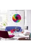 Sticker horloge soleil multicolore