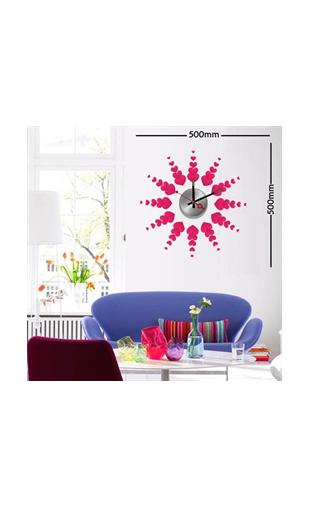 Sticker horloge soleil de coeurs