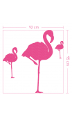 Sticker velour flamant rose