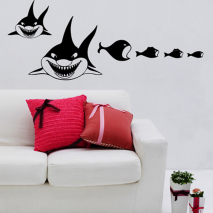 Sticker velour requin