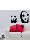 Sticker velour panda
