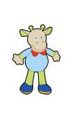 Sticker vache personnage