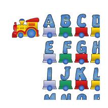 Kit Sticker train alphabet