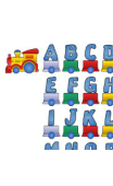 Kit Sticker train alphabet
