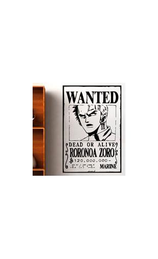 Sticker One Piece Zoro