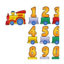 Kit Sticker train chiffres