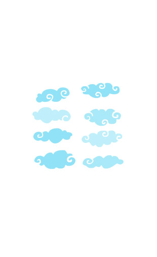 Kit Stickers nuages