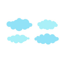 Kit Stickers nuages 2