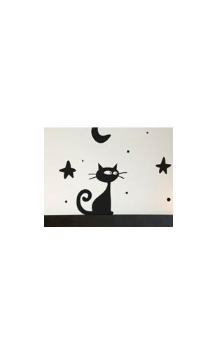 """Sticker """"tous les chats sont gris..."""""""