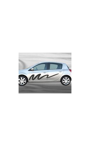 Sticker voiture Trait de peinture
