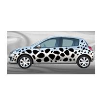 Stickers voiture Peau de Girafe