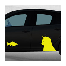 Stickers voiture Duel