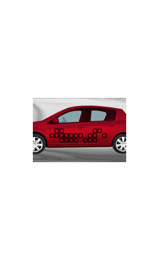 Sticker voiture Tetris1