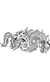 Sticker voiture Dragon1