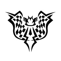 Sticker tribal Racing